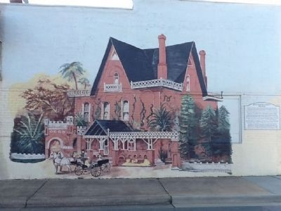 Railroad Street Mural Marker and Depiction of Korner's Folly image. Click for full size.
