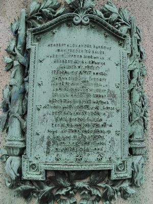 Rutherford World War I Plaque image. Click for full size.