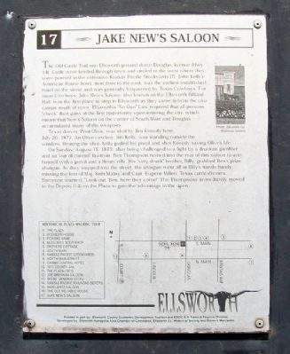 Jake New's Saloon Marker image. Click for full size.