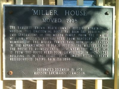 Miller House Marker image. Click for full size.