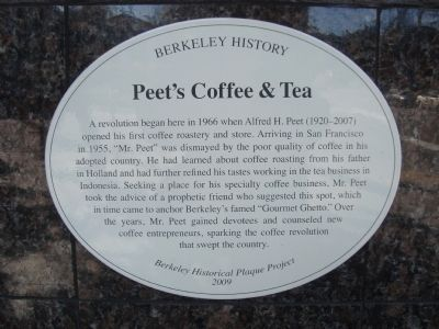 Peet�s Coffee & Tea Marker image. Click for full size.