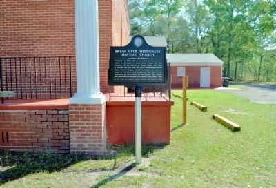 Bryan Neck Missionary Baptist Church Marker image. Click for full size.