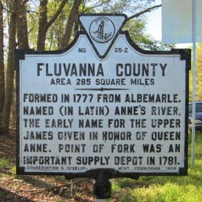 Fluvanna County Marker image. Click for full size.