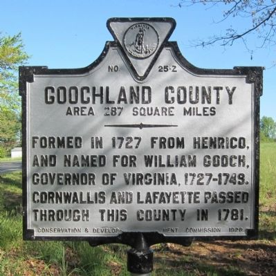 Goochland County Marker image. Click for full size.