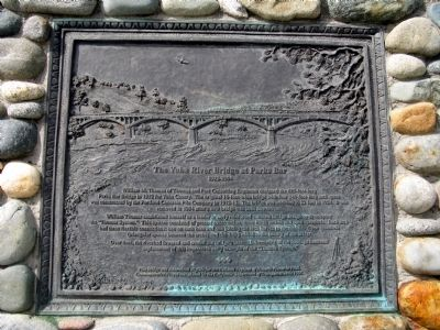 The Yuba River Bridge at Parks Bar Marker image. Click for full size.