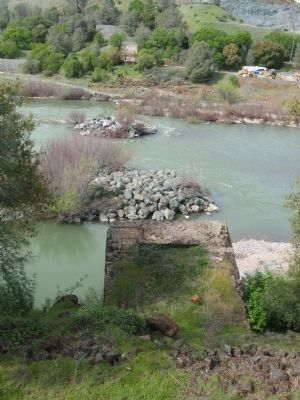 The Yuba River Bridge at Parks Bar Foundation Ruins image. Click for full size.