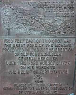 The Great Ford of the Mohawk Marker image. Click for full size.