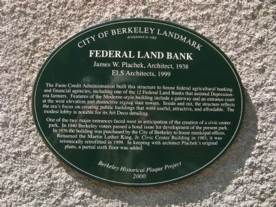 Federal Land Bank Marker image. Click for full size.