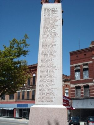 Left Side - - Blackford County W.W. I Honor Roll Marker image. Click for full size.