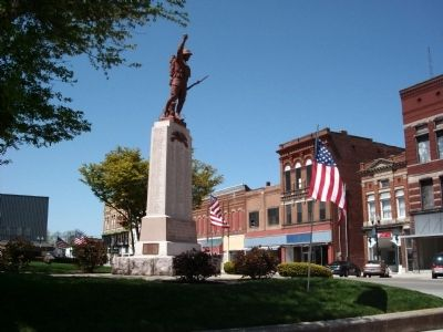Other Wide View - - Blackford County W.W. I Honor Roll Marker image. Click for full size.