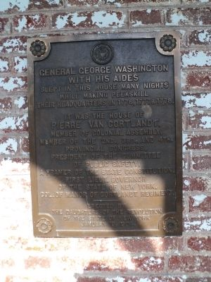 House of Pierre Van Cortlandt Marker image. Click for full size.