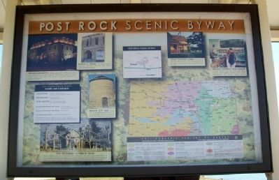 Post Rock Scenic Byway Marker (Side A) image. Click for full size.