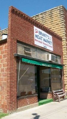 Brant's Meat Market in Lucas, Kansas image. Click for full size.