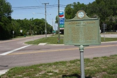 LaCrosse, Florida Marker at State Roads 121 and 235 intersection, looking north image. Click for full size.