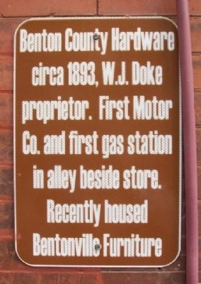 Benton County Hardware Marker image. Click for full size.