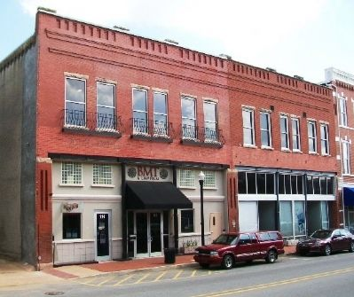 Benton County Hardware Building and Marker image. Click for full size.