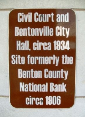 Benton County National Bank Marker image. Click for full size.