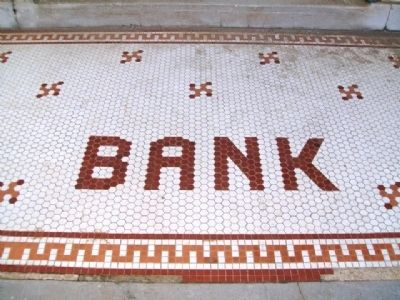 Benton County National Bank Entrance Tile image. Click for full size.