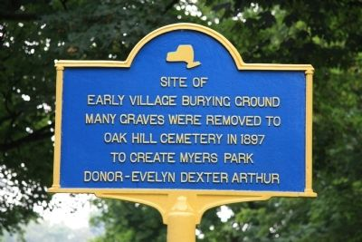 Early Village Burying Ground Marker image. Click for full size.