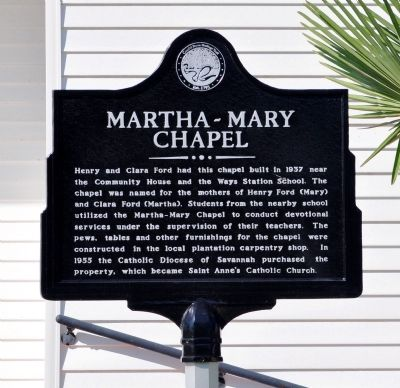 Martha-Mary Chapel Marker Photo, Click for full size