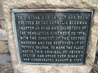 Site of St. Peter�s Church Marker Photo, Click for full size