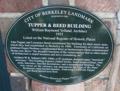 Tupper & Reed Building Marker image. Click for full size.