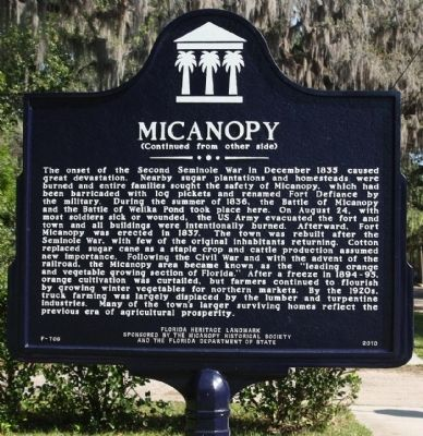 Micanopy Marker, reverse side image. Click for full size.