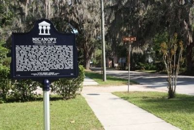 Micanopy Marker, looking east image. Click for full size.