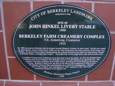 Site of John Hinkel Livery Stable, 1900 Marker image. Click for full size.