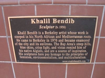 Khalil Bendib Plaque Located on the Gaia Building image. Click for full size.