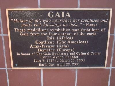 Gaia Plaque Located on the Gaia Building image. Click for full size.