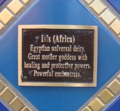 Isis Plaque Located on the Gaia Building image. Click for full size.