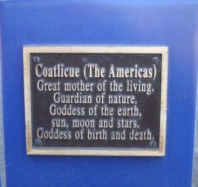 Coatlicue Plaque Located on the Gaia Building image. Click for full size.