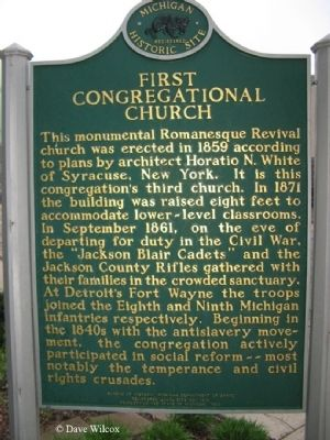 First Congregational Church Marker Photo, Click for full size