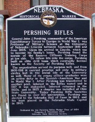 Pershing Rifles Marker image. Click for full size.