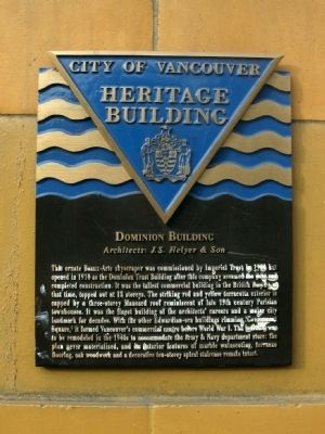 Dominion Building Marker image. Click for full size.
