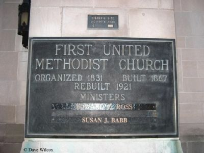 First United Methodist Church Plaque image. Click for full size.