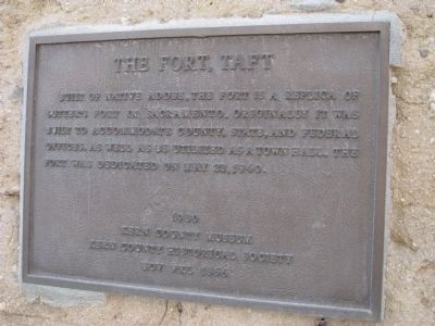 The Fort, Taft Marker image. Click for full size.