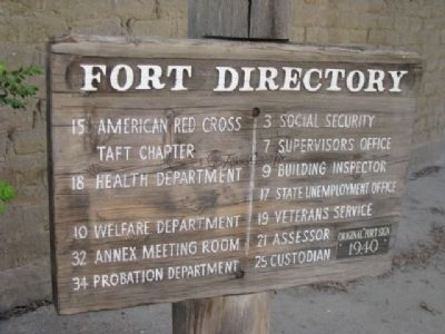 Original Fort Sign 1940 image. Click for full size.