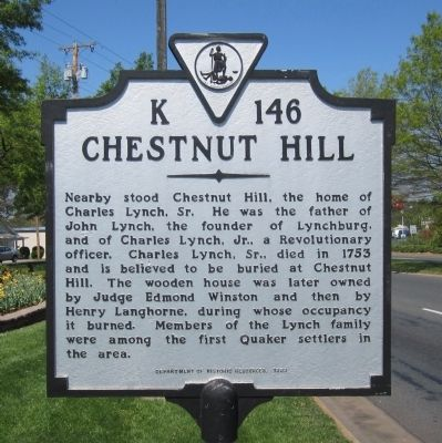 Chestnut Hill Marker image. Click for full size.