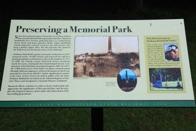 Preserving a Memorial Park Marker image. Click for full size.