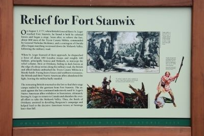 Relief for Fort Stanwix Marker image. Click for full size.