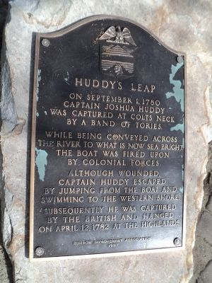 Huddy's Leap Marker image. Click for full size.