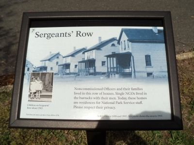 Sergeants' Row Marker image. Click for full size.