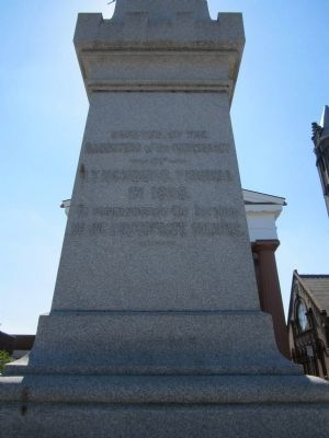 Lynchburg Confederate Soldiers Monument (rear) image. Click for full size.