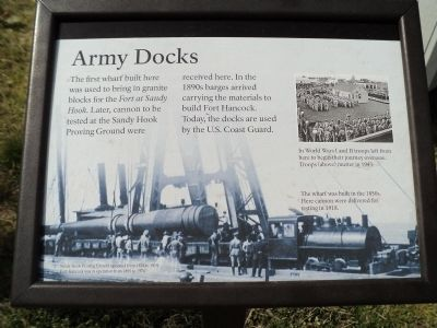 Army Docks Marker image. Click for full size.