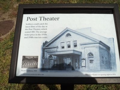 Post Theater Marker image. Click for full size.
