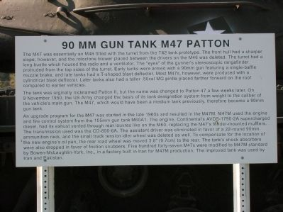 90 MM Gun Tank M47 Patton Marker Photo, Click for full size