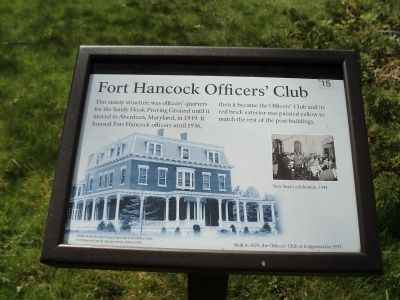 Fort Hancock Officers' Club Marker image. Click for full size.