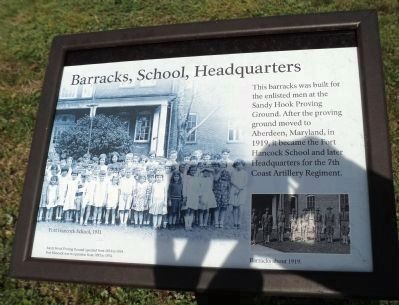 Barracks, School, Headquarters Marker image. Click for full size.